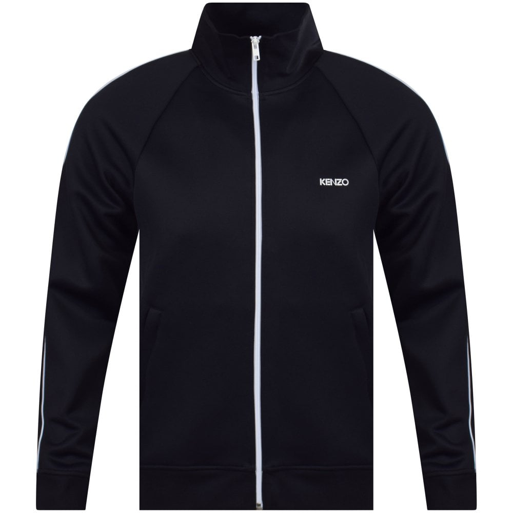 9ca09508c8 KENZO Black/White Logo Zipped Track Top - Department from ...