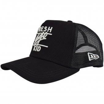e634b8be923 Black White Mesh Trucker Cap