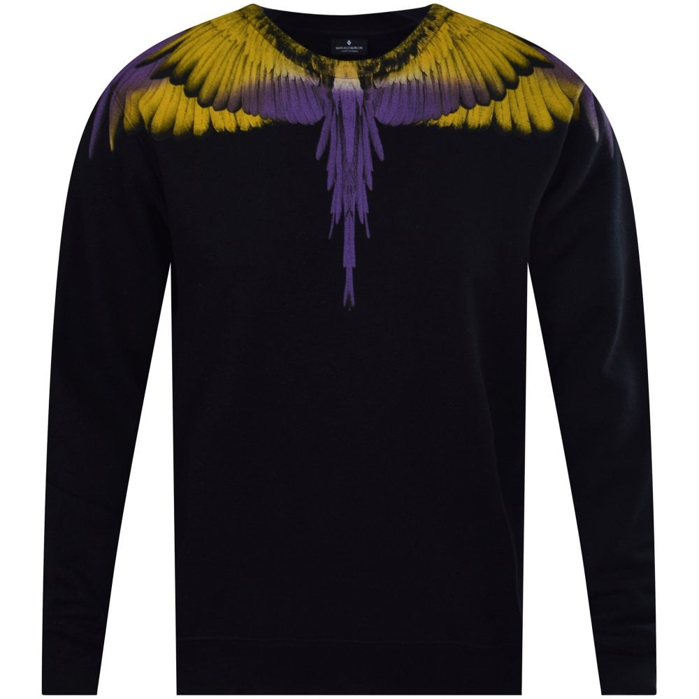 04bd8bacb2f MARCELO BURLON Black/Yellow Wings Sweatshirt - Department from ...