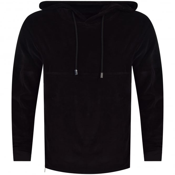 BLOOD BROTHER Black Zip Detail Hoodie