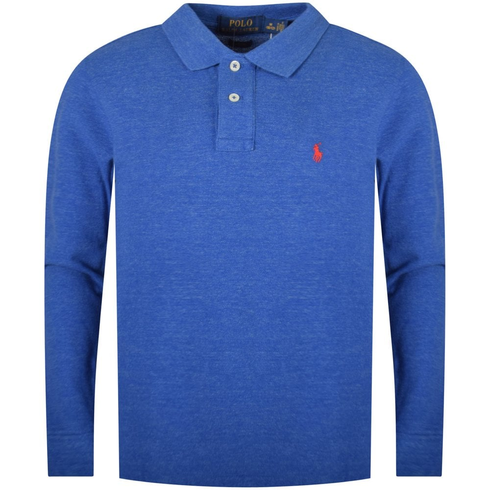 c2685a554c3dd POLO RALPH LAUREN JUNIOR Blue Classic Long Sleeve Polo Shirt - Junior from  Brother2Brother UK