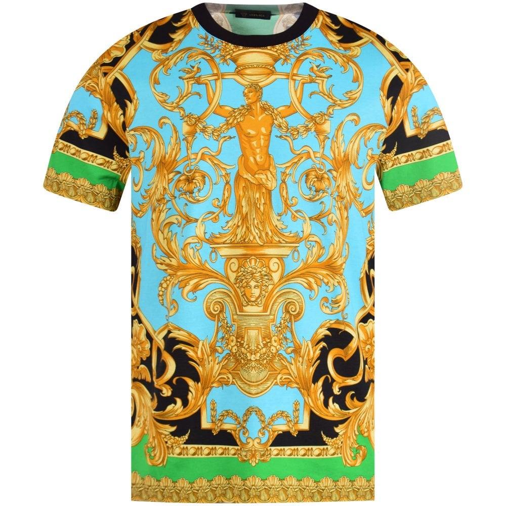 Blue/Gold Heritage Print T-Shirt