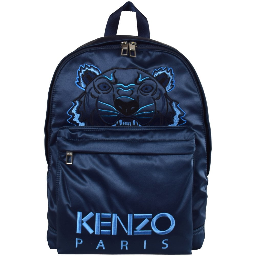 c7f5722011 KENZO Blue Holiday Capsule Satin Tiger Backpack - Accessories from ...