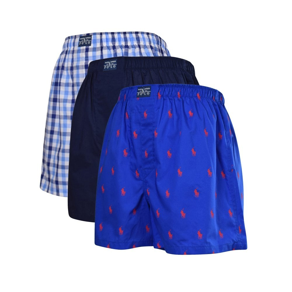 Classic Bluemulti Three Woven Boxers Pack sQrhCtd