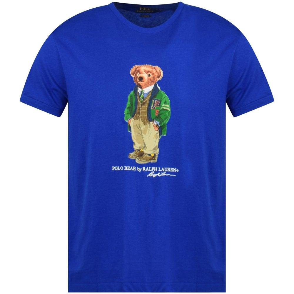 198bf7d9 POLO RALPH LAUREN Blue Polo Bear Print T-Shirt - T-Shirts from ...