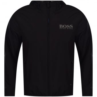 Boss Athleisure Black Lightweight Zip Up Jacket