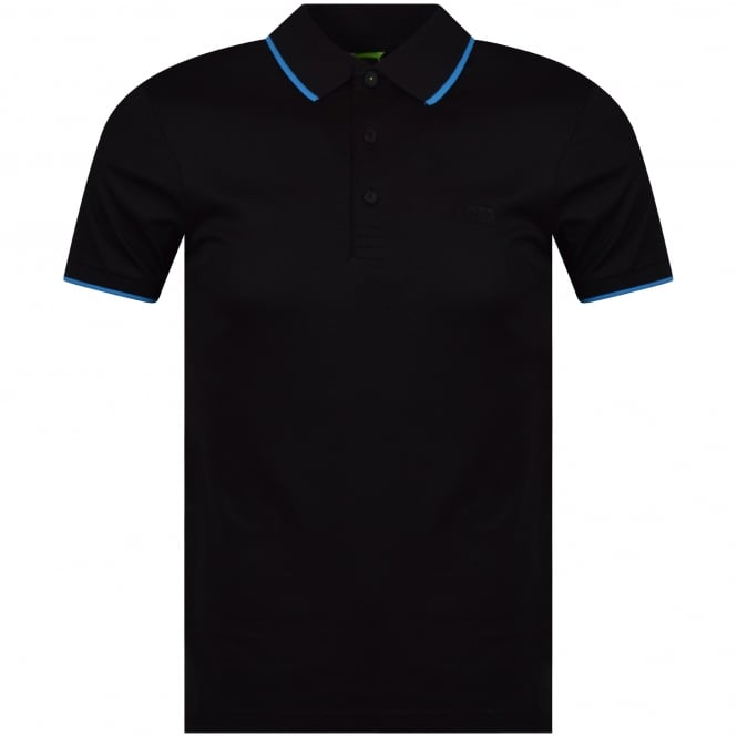 BOSS ATHLEISURE Black/Reflective Back Logo Polo Shirt