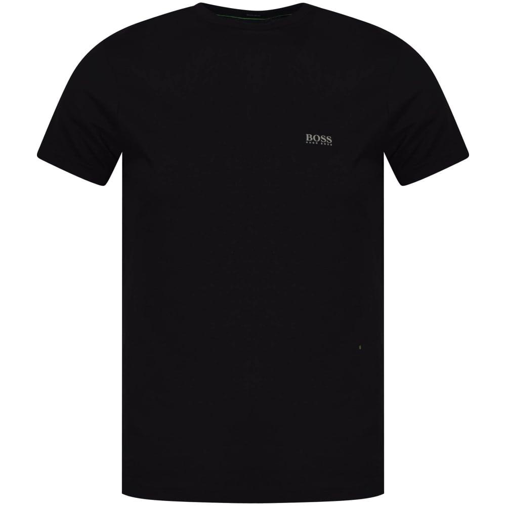 271b9d799 BOSS ATHLEISURE Boss Athleisure Black Shoulder Logo T-Shirt ...