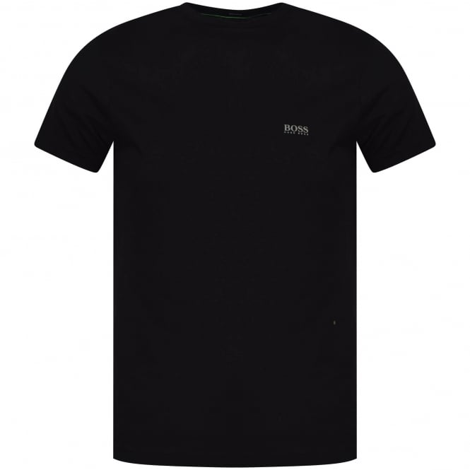 BOSS ATHLEISURE Black Shoulder Logo T-Shirt
