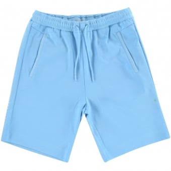 Boss Athleisure Light Blue Logo Jersey Shorts