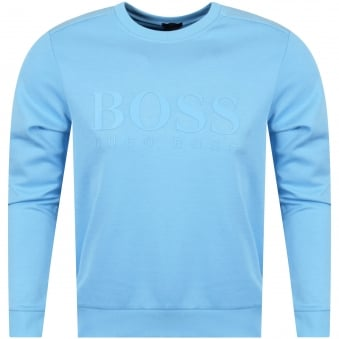 Boss Athleisure Light Blue Logo Sweatshirt