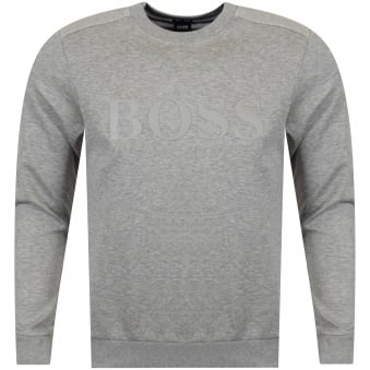 Boss Athleisure Light Grey Logo Sweatshirt