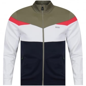 Boss Athleisure Navy/Green/White Track Top