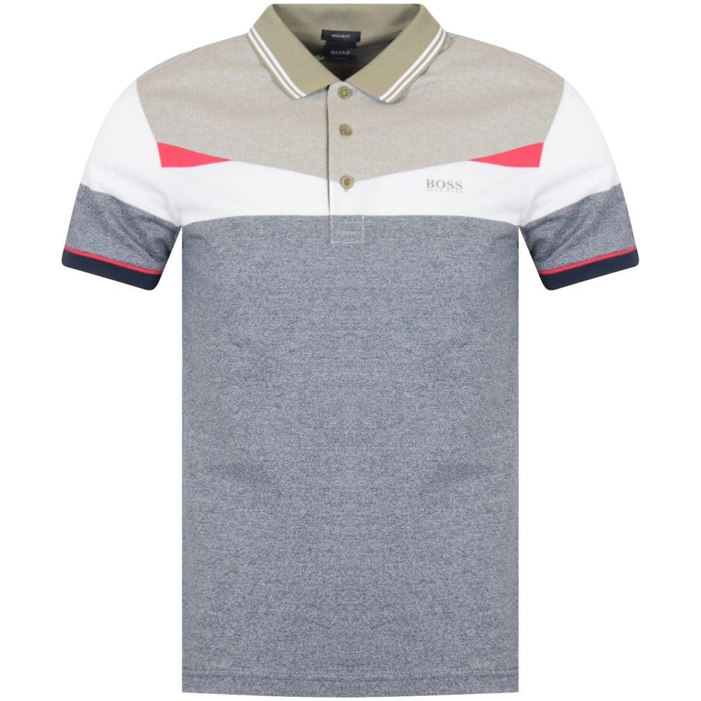 Boss Athleisure Navy/White/Pink Paddy Polo Shirt