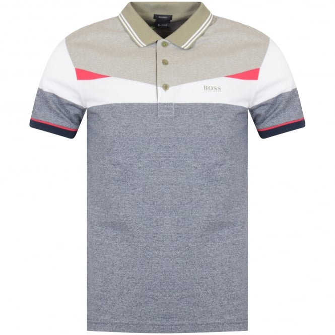 d3c93dd4d BOSS Boss Athleisure Navy/White/Pink Paddy Polo Shirt - Department ...