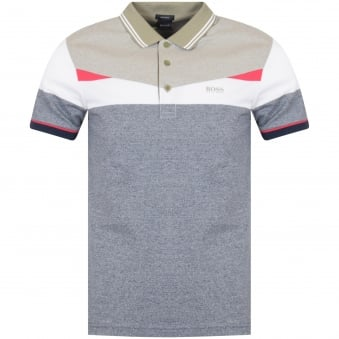 Boss Athleisure Navy/White/Pink Paddy Polo Shirt