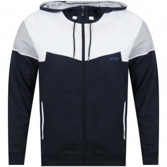 Boss Athleisure Navy/White Zip Up Hoodie