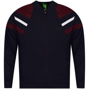 Boss Athleisure Navy Zip Up Baseball Collar Style Jacket