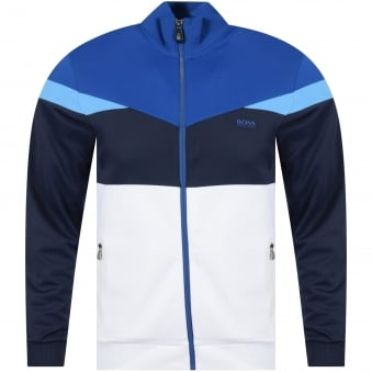 Boss Athleisure White/Blue Track Top