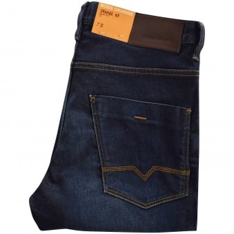 Boss Casual 63 Navy Slim Fit Denim Jeans