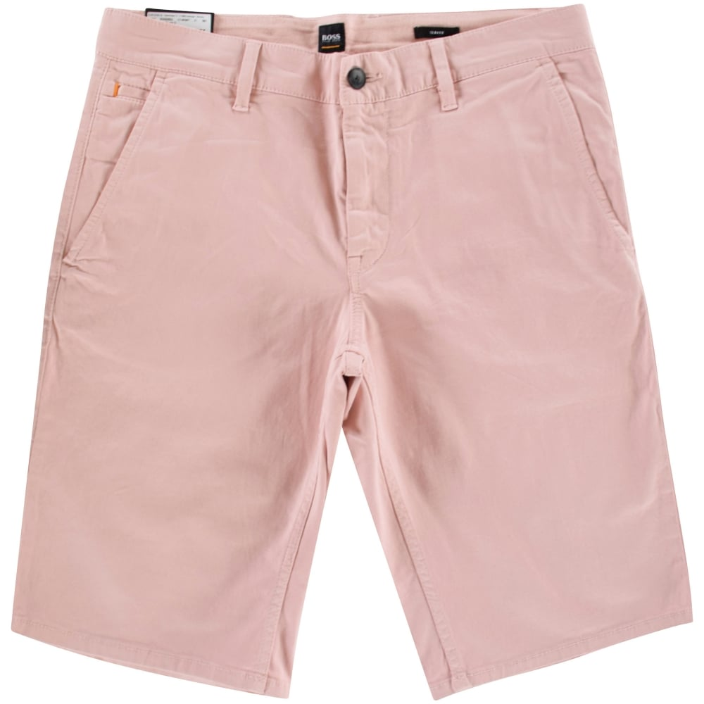 71d17f9be BOSS Boss Casual Light Pastel Pink Slim Fit Chino Style Shorts ...