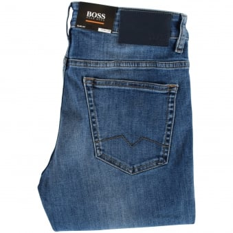 Boss Casual Light Wash Blue Slim Fit Jeans