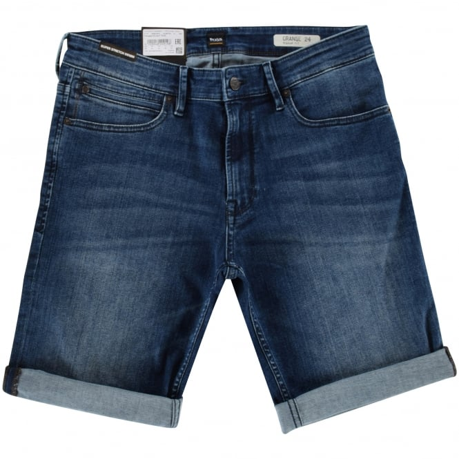 BOSS CASUAL Medium Blue Denim Shorts