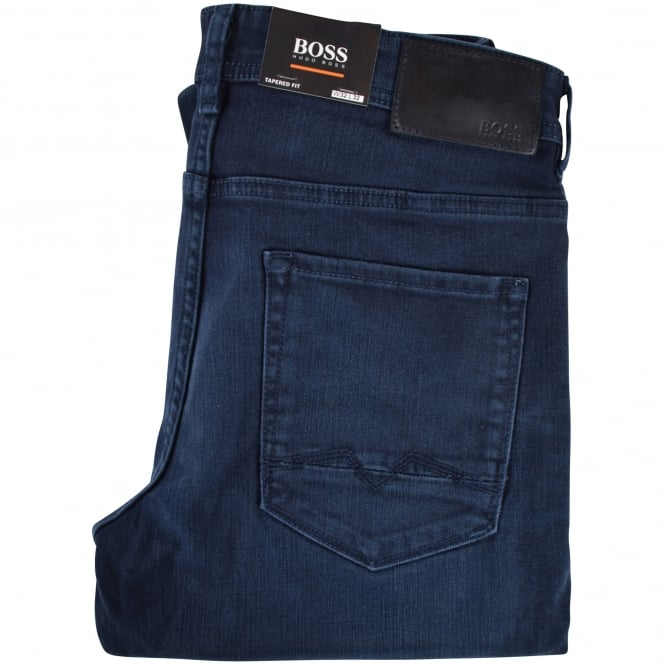 BOSS CASUAL Navy Tapered Fit Jeans