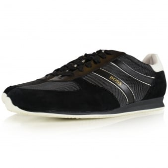 Boss Casual Orland Lowp Black Trainers