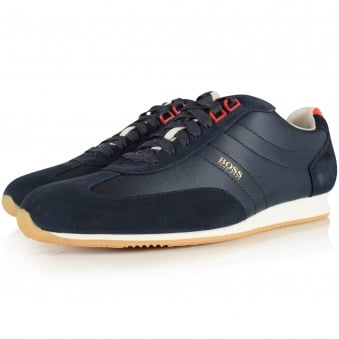 Boss Casual Orland Lowp Dark Blue Trainer