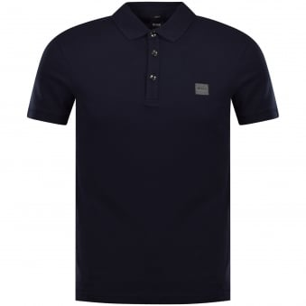 Boss Casual Slim Fit Shirt In Navy