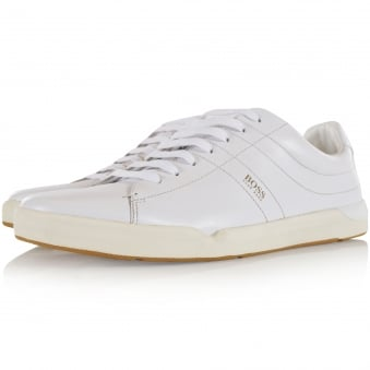 Boss Casual White Leather Side Logo Trainers