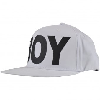 Boy London White Text Logo Snapback