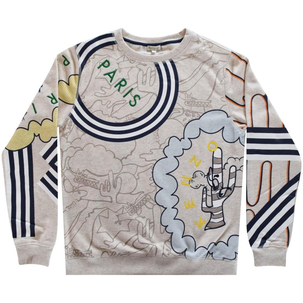 ba7ff8c7 Boys Beige Graphic Kenzo Sweatshirt