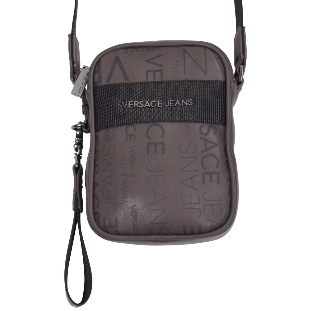 6a45009e7f7d VERSACE JEANS Brown Print Small Shoulder Bag - Men from Brother2Brother UK