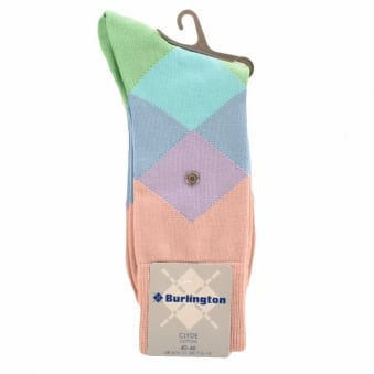 Burlington Clyde Pink 8774 Baumwool Cotton Socks