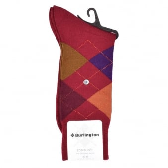 Burlington Edinburgh Multicolour Check Socks