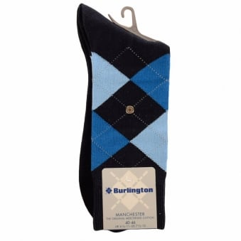 Burlington Manchester Marine 6120 Baumwool Cotton Socks