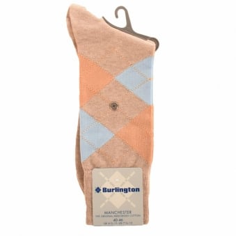 Burlington Manchester Nude 4175 Baumwool Cotton Socks