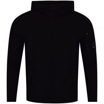 C.P. Company Black Goggle Zip Through Hoodie