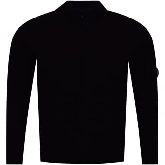 C.P. Company Black Knitted Zip Up Jacket