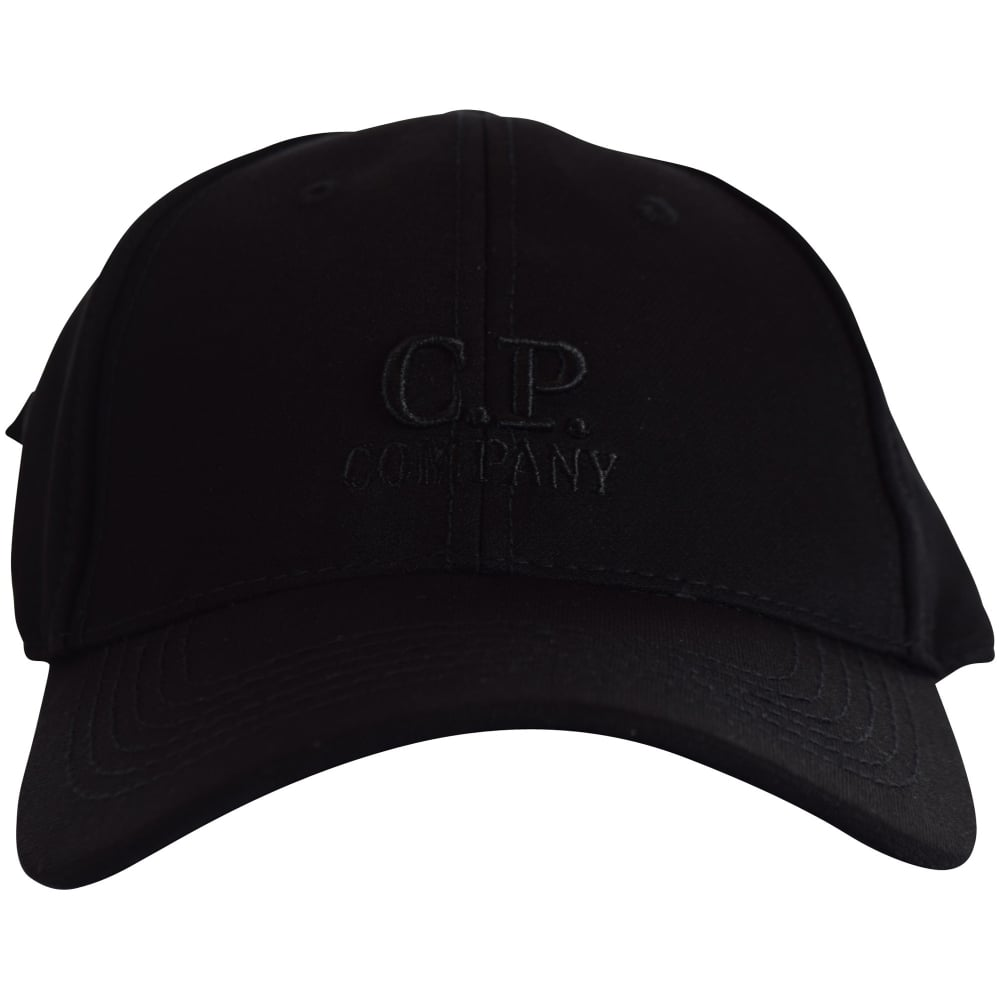 C.P. COMPANY C.P. Company Black Logo Baseball Cap - Junior from ... 8af5b1d2e2a