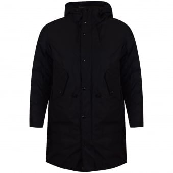 C.P. Company Black Long Puffer Coat