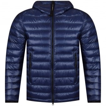 C.P. Company Blue Quilted Goggle Jacket