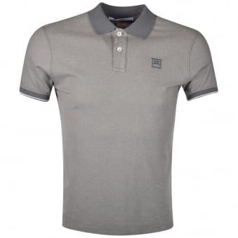 C.P. Company Grey Logo Polo Shirt