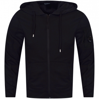 C.P. Company Caviar Black Zip Through Hoodie