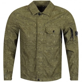 CP Company Olive Textured Overshirt Jacket