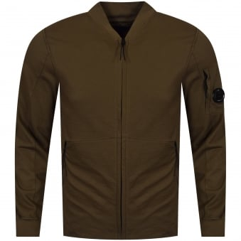 C.P. Company Dark Olive Zip Through Jumper