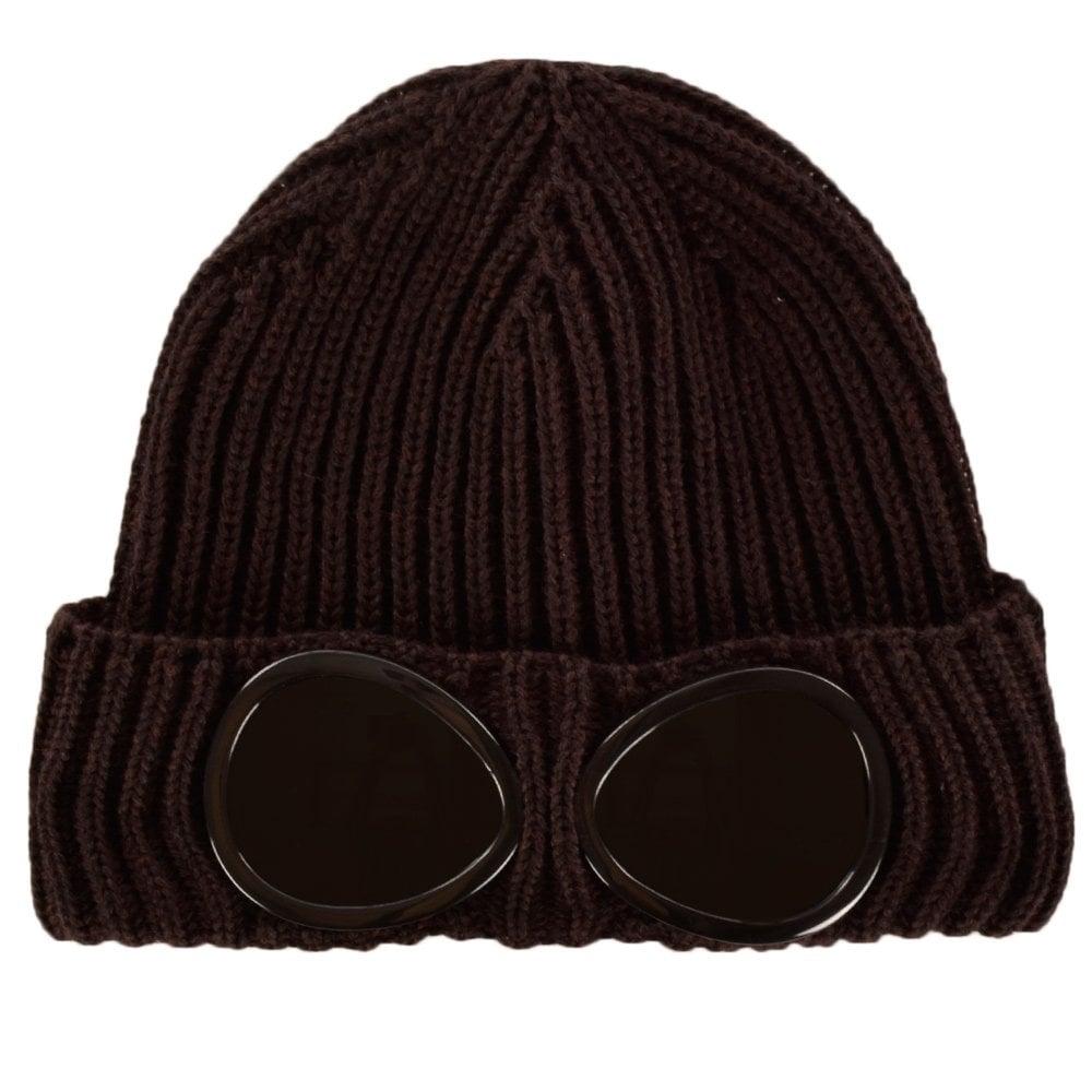 14f11d8c7c11a C.P. COMPANY C.P. Company Goggle Dark Plum Wool Beanie Hat