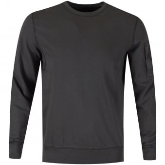 C.P. Company Grey Zip Sleeve Pocket Sweatshirt
